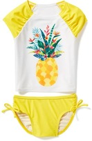 Old Navy Pineapple-Graphic Rashguard Swim Set for Toddler