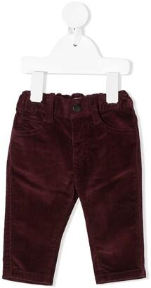 Emporio Armani Kids Straight Leg Corduroy Trousers