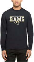 '47 Men's Los Angeles Rams Double Option Splitter Long-Sleeve T-Shirt