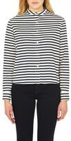 Mavi Jeans Carla Long Sleeve Stripe Cropped Shirt