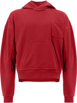 Haider Ackermann contrast panel hoodie - women - Cotton/Spandex/Elastane/Cupro/Rayon - S
