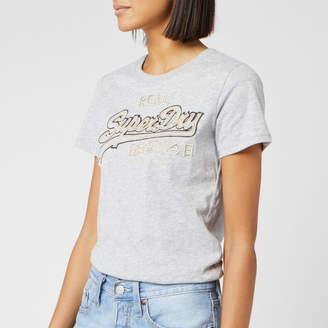 Superdry Women's V Logo Emb Outline Entry T-Shirt