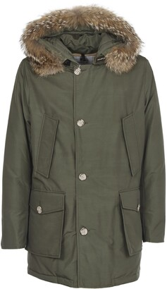 Woolrich Green Multi-pocket Arctic Parka