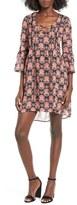 Speechless Print Lace-Up Dress