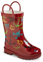 Western Chief Toddler Boys' Surf Tide Rain Boots - Red