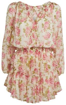 LoveShackFancy Popover Tiered Mini Dress