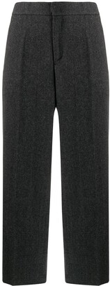 Woolrich Herringbone Cropped Trousers