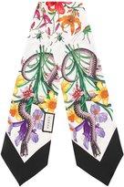 Gucci Snake Flora print scarf