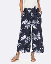 Roxy Womens Ready Beachy Vibes Printed Wide Leg Pant