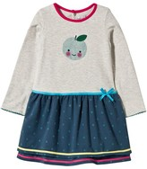 Catimini Grey Jersey Apple Print and Spot Dress