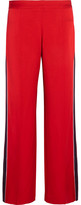 Mother of Pearl Frona Striped Satin Straight-leg Pants - Red