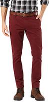 Dockers Alpha Skinny Fit Trousers, Dark Russet