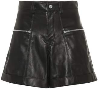 Isabel Marant High-rise leather shorts