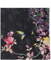 Pierre Louis Mascia Pierre-Louis Mascia contrast floral pattern scarf