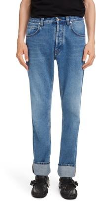 Loewe Anagram Cuff Straight Leg Jeans