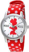 Disney Women's 'Minnie Mouse' Quartz Metal and Nylon Automatic Watch, Color: (Model: W002879)