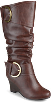 Journee Collection Brown Meme Wide-Calf Boot