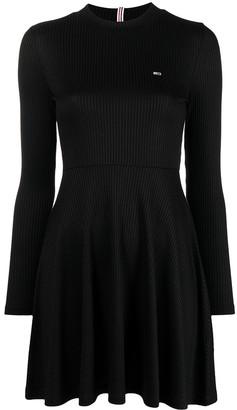 Long-Sleeve Pleated Dress