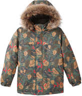 Joe Fresh Kid Boys' Leaf Print Parka, Olive (Size XL)