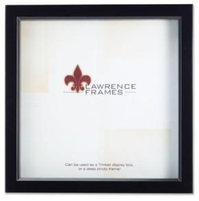 "Lawrence Frames 795088 Black Wood Treasure Box Shadow Box Picture Frame - 8"" x 8"""
