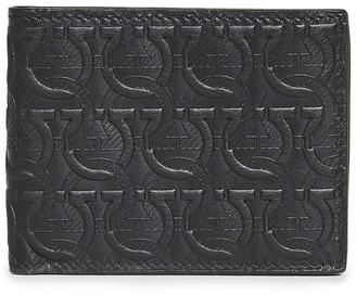 Salvatore Ferragamo Travel Embossed Leather Wallet
