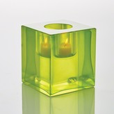 The Well Appointed House Global Views Block T-Lite Candle Holder in Lime