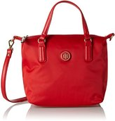 Tommy Hilfiger Poppy Small Tote, Women's Rot (Tommy Red), 23 x 15 22 cm (wxhxd)