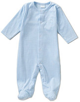 Edgehill Collection Baby Boys Newborn-6 Months Deer Appliqued Striped Footed Coverall