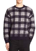 Plac Checked Wool-Blend Sweater