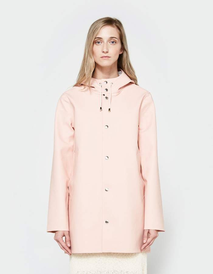 Stutterheim Stockholm Rain Coat in Pale Pink