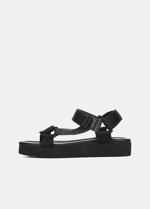 Vince Leather Carver Platform Sandal