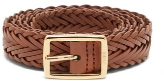 Fendi Plaited Leather Belt - Brown