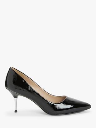 John Lewis & Partners Athena Metal Stiletto High Heel Court Shoes, Black
