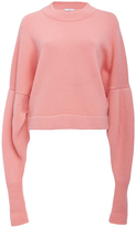 Tibi Drop Shoulder Crop Sweater