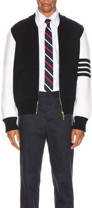 Thom Browne Milano Stitch Bomber Jacket in Navy | FWRD