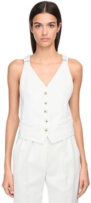Max Mara Open Back Cotton Twill Vest
