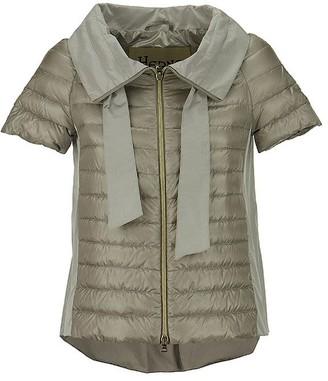 Herno Short-Sleeved Funnel-Neck Puffer Jacket Grey
