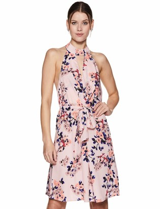 Oasis Wild Women's High Neck Backless Dress with Waist Ties (Small