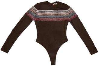Alaia Khaki Viscose Knitwear