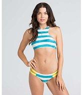 Billabong Women's Maldive Stripe Halter High Neck Bikini Top