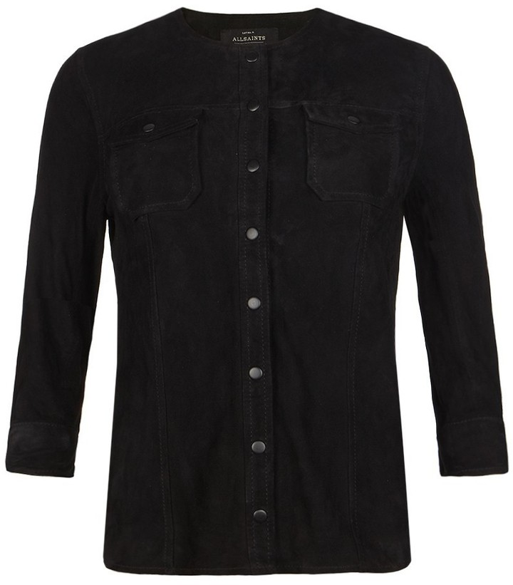 AllSaints Perine Leather Shirt