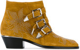 Chloé Susanna micro stud booties - women - Leather/Suede - 36