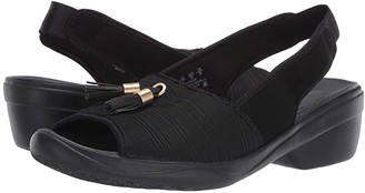 Bzees Mirage (Black Gradient Ribbed Fabric) Women's Shoes