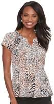 Dana Buchman Women's Printed Peplum Shirt