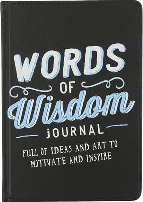 Eccolo Words of Wisdom Inspirational Journal - Black