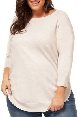 Dex Plus Raglan-Sleeve Sweater