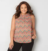 Avenue Chevron Hidden Button Tank