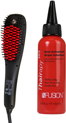 Nfusion Thairapy365 Ultrasonic Straightening Brush Kit