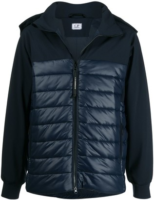 C.P. Company Hooded High-Neck Quilted Jacket