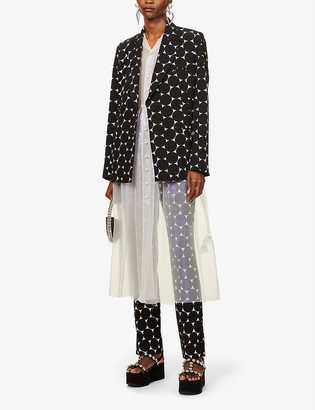 Erdem Graphic-print stretch-woven jacket
